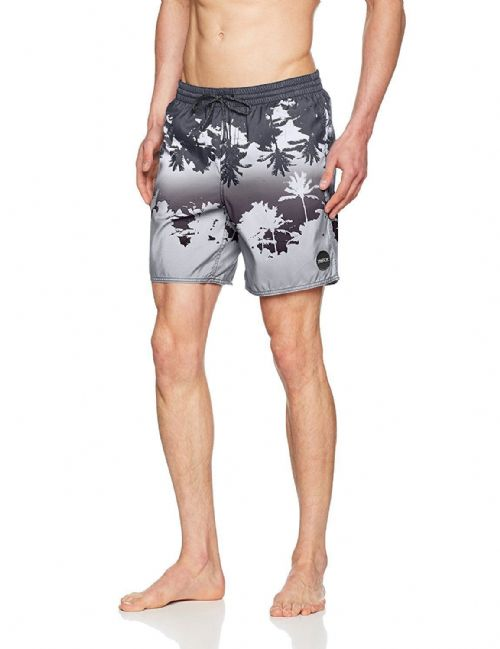 O'NEILL MENS SWIM SHORTS.PALMS GREY HYPERDRY QUICK DRY LINED BOARDIES 7S 08 9900
